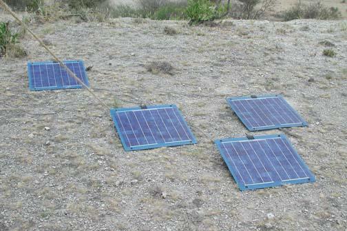 The solar cells.