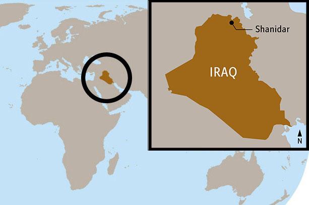 Shanidar Iraq Map jpg | The Smithsonian Institution's Human