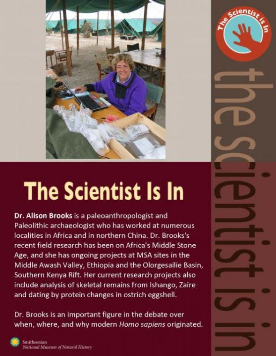 photo of Dr. Brooks and description of her scientific work